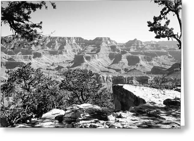 National Landmark Greeting Cards - Mountain Range, Mather Point, South Greeting Card by Panoramic Images