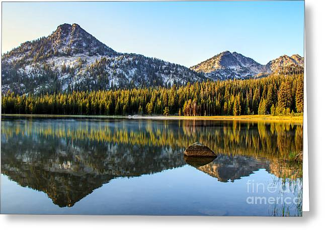 Haybales Greeting Cards - Mountain Reflections Greeting Card by Robert Bales