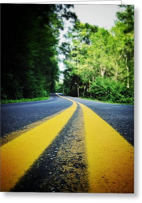 Mountain Road Digital Art Greeting Cards - Mountain Road Greeting Card by Natasha Marco
