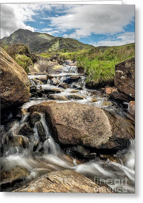 Brook Digital Art Greeting Cards - Mountain Stream Greeting Card by Adrian Evans