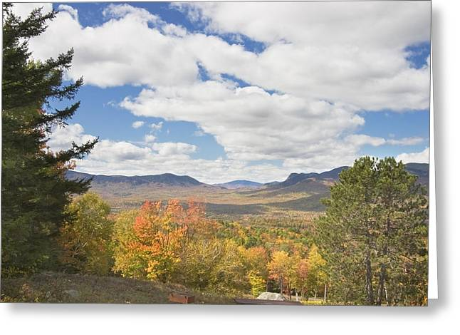 Maine Landscape Greeting Cards - Mountains In Fall Mount Blue State Park Weld Maine Greeting Card by Keith Webber Jr