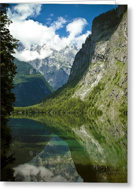 Mountainscapes Greeting Cards - Mountainscape Greeting Card by Frank Tschakert