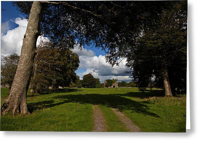 Antiquated Greeting Cards - Moyne Castle Near Headford, Probably Greeting Card by Panoramic Images