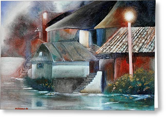 Low Country Cottage Greeting Cards - Mr20140603 Greeting Card by MadhuRavi Paintings