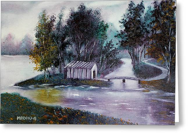 Low Country Cottage Greeting Cards - Mr20140612 Greeting Card by MadhuRavi Paintings