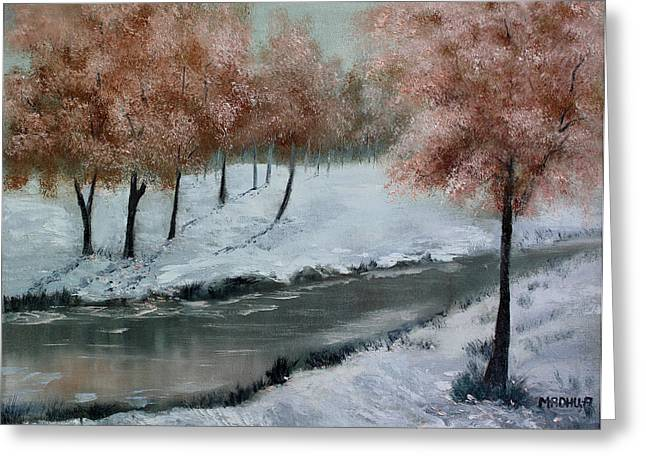 Low Country Cottage Greeting Cards - Mr20140614 Greeting Card by MadhuRavi Paintings