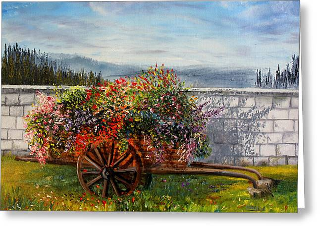 Low Country Cottage Greeting Cards - Mr20140616 Greeting Card by MadhuRavi Paintings