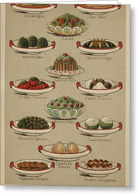 Mrs. Beeton's Family Cookery And Housekee Greeting Card by British Library