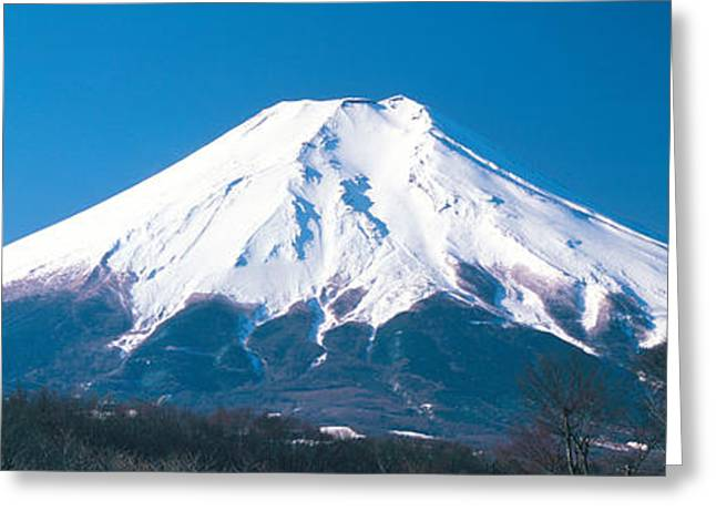 Snow Capped Greeting Cards - Mt Fuji Yamanashi Japan Greeting Card by Panoramic Images