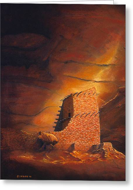 Mummies Greeting Cards - Mummy Cave Ruins Greeting Card by Jerry McElroy