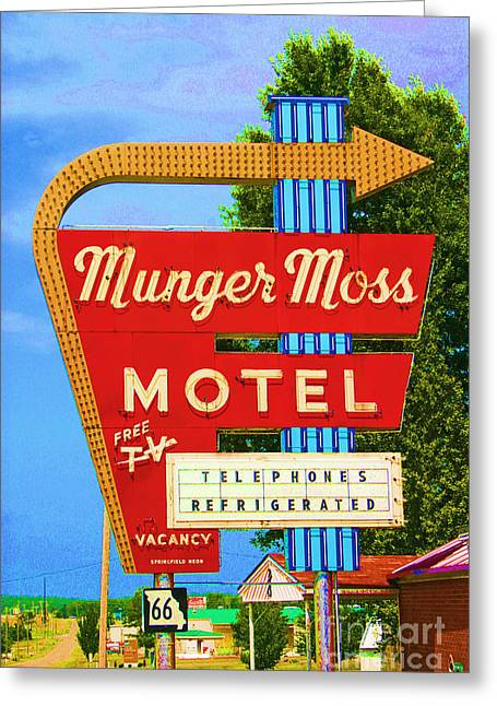 Vintage Greeting Cards - Munger Moss Motel Greeting Card by Beth Ferris Sale