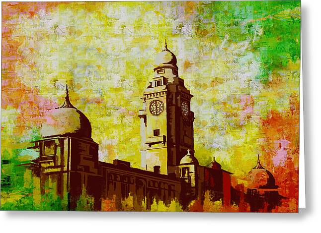 Karachi Lahore Greeting Cards - Municipal Corporation Karachi Greeting Card by Catf