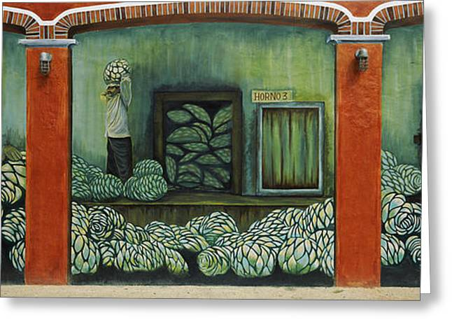 Business-travel Greeting Cards - Mural On A Wall, Cancun, Yucatan, Mexico Greeting Card by Panoramic Images