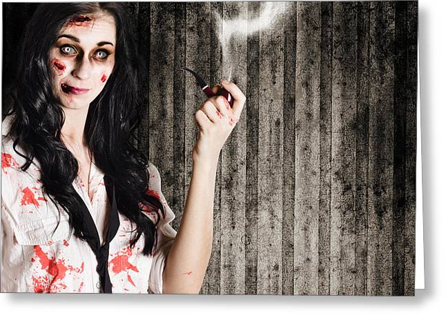 Murder Mystery Who Done It Greeting Card by Jorgo Photography - Wall Art Gallery