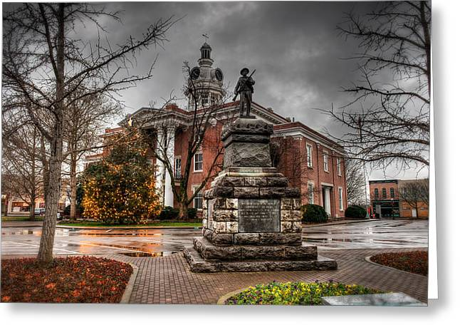 Moist Digital Art Greeting Cards - Murfreesboro Town Hall Greeting Card by Brett Engle