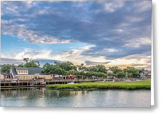 Twisted Sister Greeting Cards - Murrells Inlet Marsh Walk Greeting Card by Mike Covington