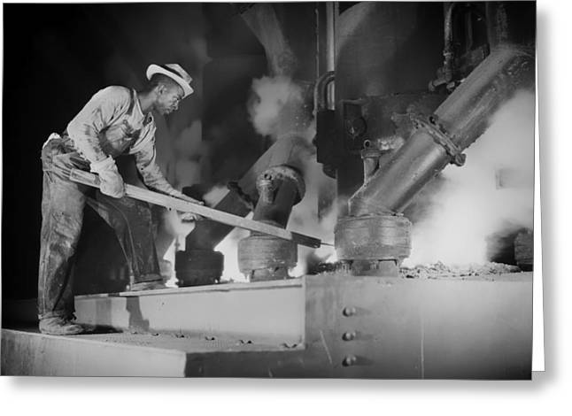 African American History Greeting Cards - Muscle Shoals Smelting Furnace 1942 Greeting Card by Mountain Dreams