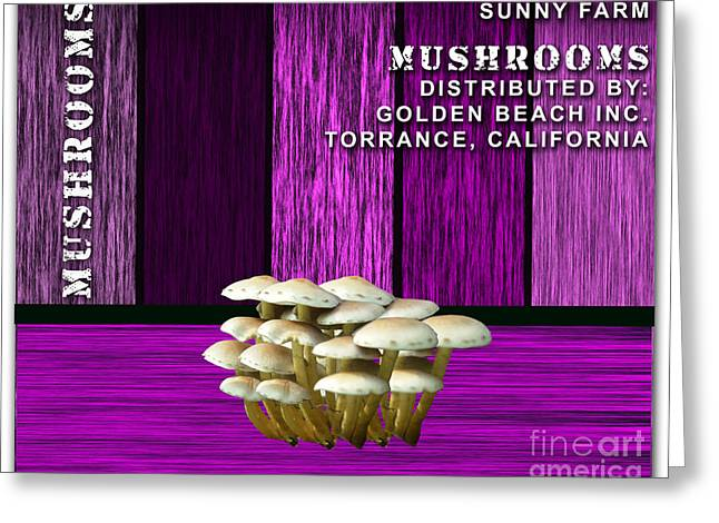 Mushroom Farm Greeting Card by Marvin Blaine