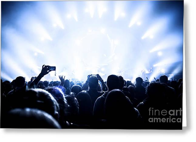 Applaud Photographs Greeting Cards - Music concert Greeting Card by Anna Omelchenko