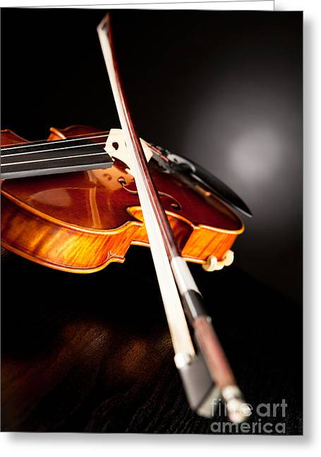 Playing Musical Instruments Greeting Cards - Music is in the air Greeting Card by Wolfgang Steiner