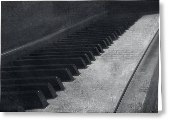 White Chopin Greeting Cards - Musical Notation Greeting Card by Dan Sproul