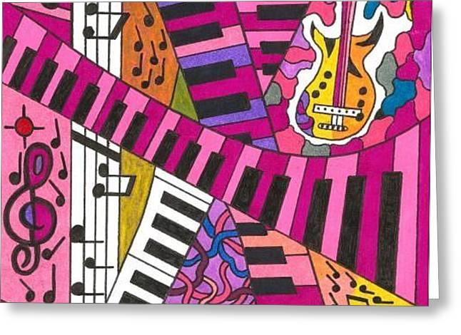 Musical Wonderland Greeting Card by Maverick Arts