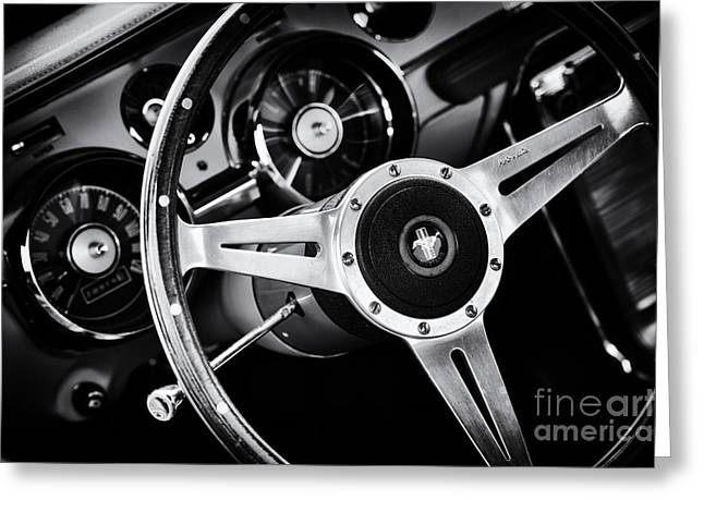 Dash Greeting Cards - Mustang Interior  Greeting Card by Tim Gainey