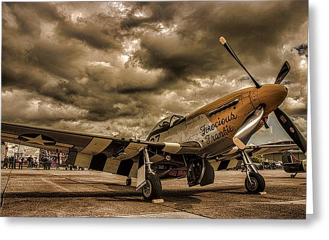 Air War Greeting Cards - Mustang Greeting Card by Martin Newman