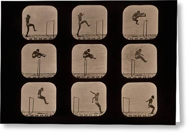 Muybridge Motion Study, 1870s Greeting Card by Science Photo Library