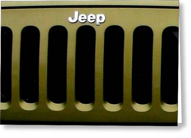 Purchase Greeting Cards - My Jeep Loves Me Greeting Card by Gail Matthews
