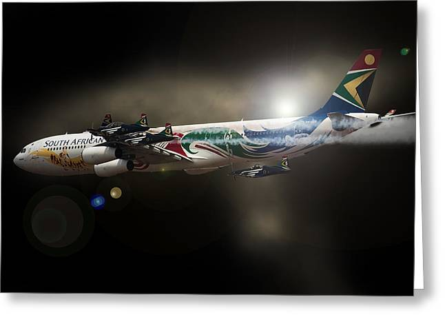 Airbus Greeting Cards - My little Friends Greeting Card by Paul Job