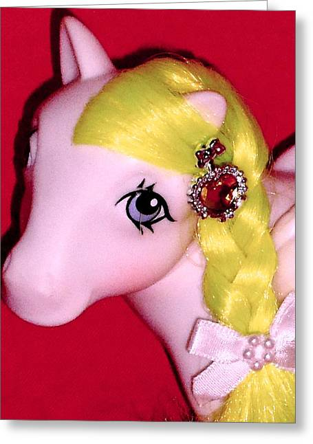 Christmas Eve Greeting Cards - My little Pony Greeting Card by Donatella Muggianu