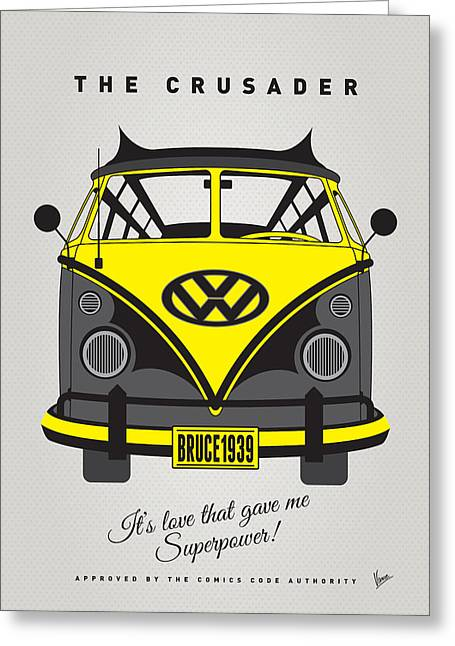 Captain America Greeting Cards - MY SUPERHERO-VW-T1-batman Greeting Card by Chungkong Art