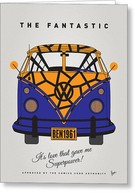 Captain America Greeting Cards - MY SUPERHERO-VW-T1-The Thing Greeting Card by Chungkong Art