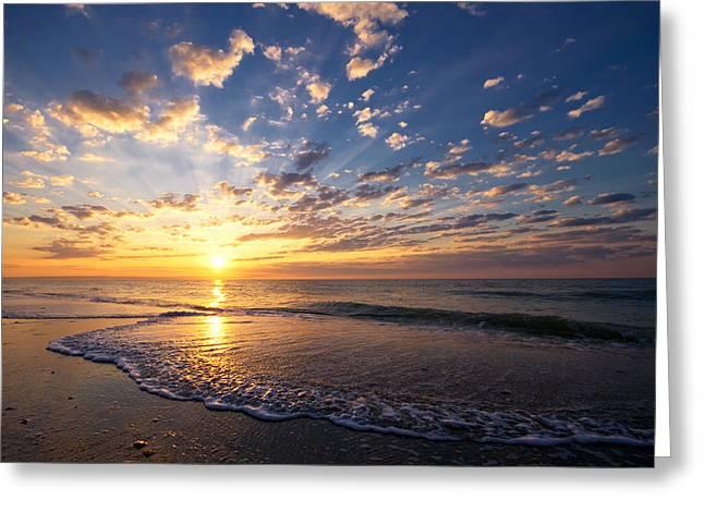 Ocean Art Photos Greeting Cards - Myrtle Beach South Carolina Sunrise Greeting Card by Stephanie McDowell