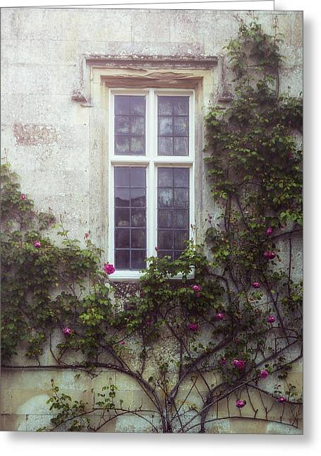 Old Window Greeting Cards - Mysterious Window Greeting Card by Joana Kruse