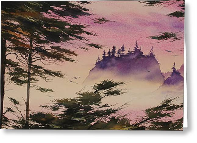 Sunset Framed Prints Greeting Cards - Mystic Shore Greeting Card by James Williamson