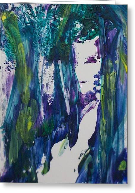 Mystique Greeting Card by Sharon Ackley