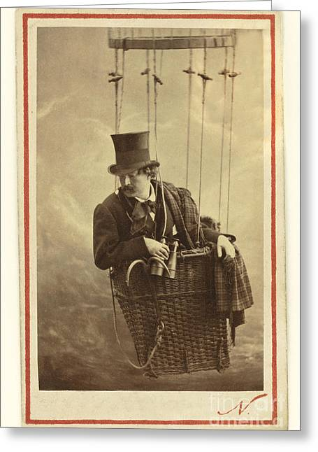 Self-portrait Photographs Greeting Cards - Nadar In The Gondola Of A Balloon, 1863 Greeting Card by Getty Research Institute