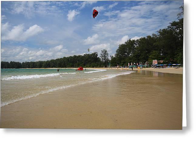 Kite Surfing Greeting Cards - Nai Yang beach Phuket Island Thailand Greeting Card by Ash Sharesomephotos