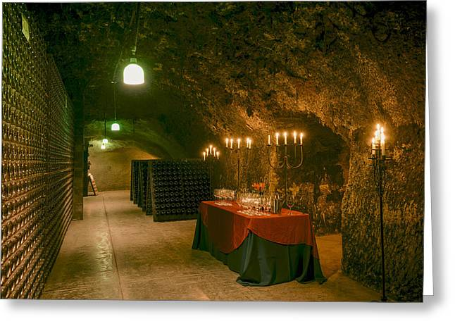 California Wine Tasting Greeting Cards - Napa Valley Wine Cave Greeting Card by Mountain Dreams