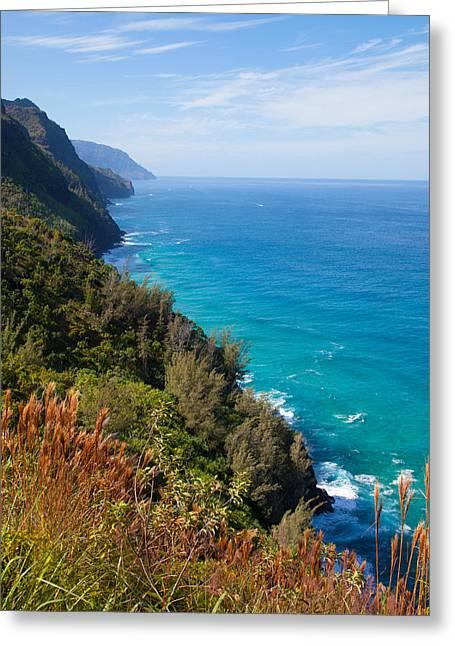 Napali Greeting Cards - Napali Coast Greeting Card by April Reppucci