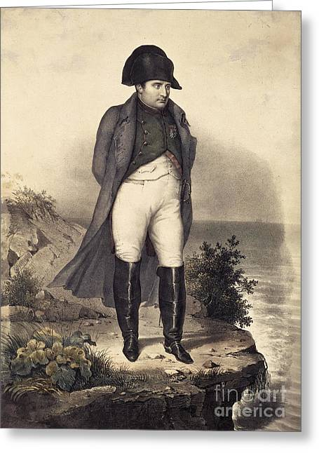 St Helena Greeting Cards - Napoleon Bonaparte Greeting Card by British Library