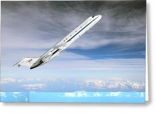 Weightless Greeting Cards - NASAs C-9 zero-gravity aeroplane Greeting Card by Science Photo Library