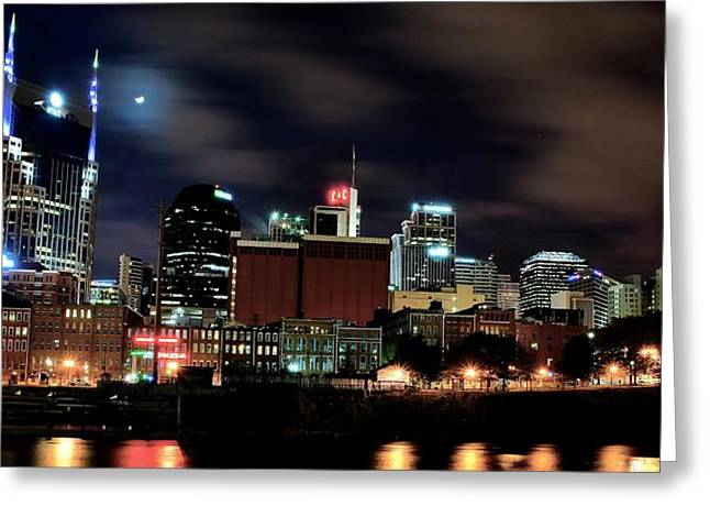 Nashville Greeting Cards - Nashville Panoramic View Greeting Card by Frozen in Time Fine Art Photography
