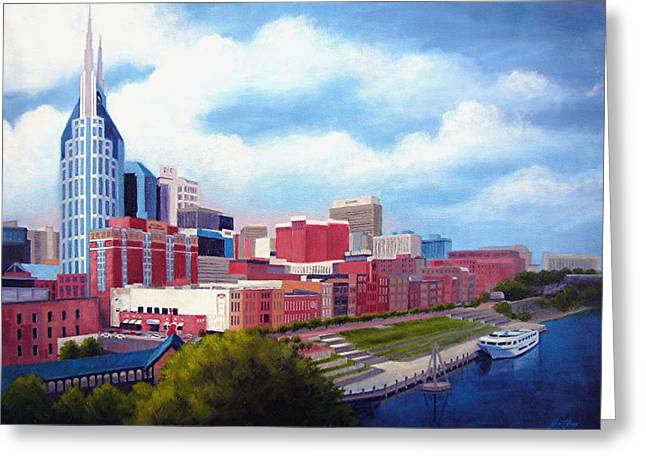 Janet King Greeting Cards - Nashville Skyline Greeting Card by Janet King