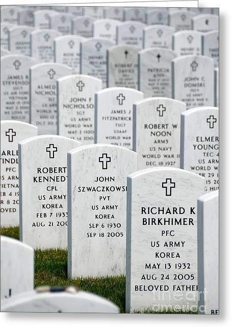 Headstones Greeting Cards - National Cemetery of the Alleghenies Greeting Card by Amy Cicconi