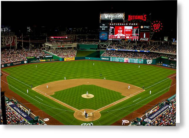 Washington Dc Baseball Greeting Cards - Nationals Park Greeting Card by Jerry Coli