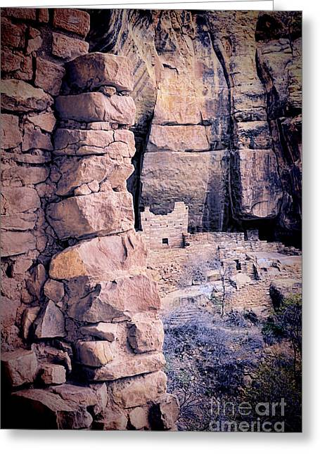 Cliff Dwellings Greeting Cards - Native American Ruins Greeting Card by Jill Battaglia