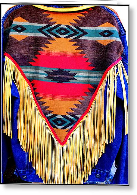 North American Indian Ethnicity Greeting Cards - Native American Shawl  Greeting Card by  Photographic Art and Design by Dora Sofia Caputo